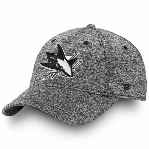 FANATICS BRANDED 黒 ブラック 白 ホワイト バッグ キャップ 帽子 メンズキャップ メンズ 【 San Jose Sharks Black And White Fundamental Adjustable Hat - Heathered Black 】 Heathered Black