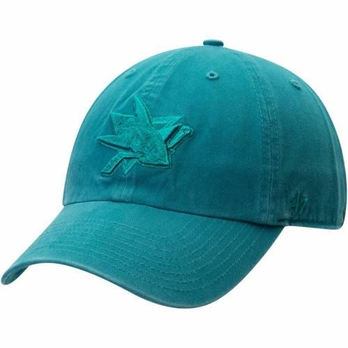 '47 チーム バッグ キャップ 帽子 メンズキャップ メンズ 【 San Jose Sharks Team Color Tonal Clean Up Adjustable Hat - Teal 】 Teal