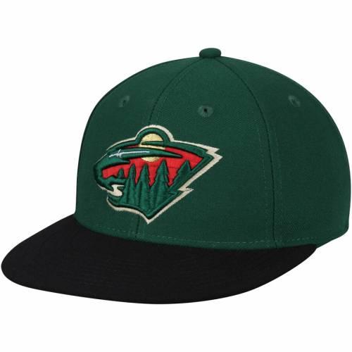 アディダス ADIDAS ミネソタ ワイルド 緑 グリーン バッグ キャップ 帽子 メンズキャップ メンズ 【 Minnesota Wild Basic Two-tone Fitted Hat - Green 】 Green