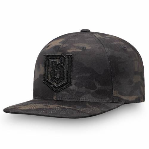 FANATICS BRANDED ボストン スナップバック バッグ 黒 ブラック キャップ 帽子 メンズキャップ メンズ 【 Boston Uprising Overwatch League Camo Flat Brim Snapback Hat - Black 】 Black