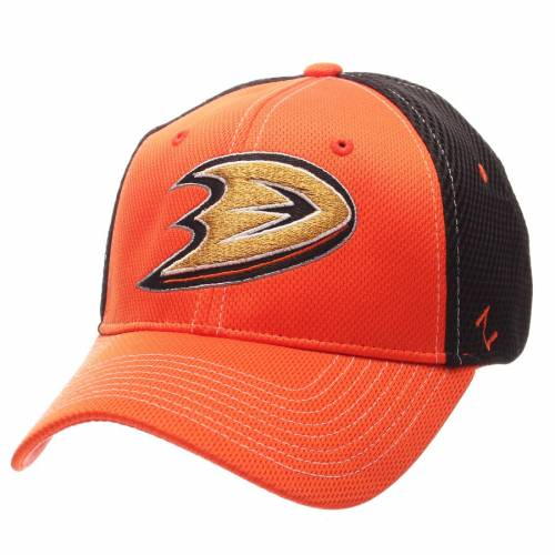 ZEPHYR バッグ キャップ 帽子 メンズキャップ メンズ 【 Anaheim Ducks Rally Spacer Mesh Flex Hat - Orange/black 】 Orange/black