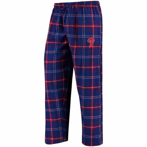 CONCEPTS SPORT フィラデルフィア フィリーズ アルティメイト インナー 下着 ナイトウエア メンズ ナイト ルーム パジャマ 【 Philadelphia Phillies Ultimate Plaid Flannel Pants - Royal/red 】 Royal/red
