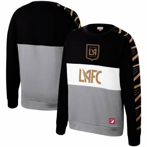 ミッチェル&ネス MITCHELL & NESS フリース 黒 ブラック メンズファッション トップス スウェット トレーナー メンズ 【 Lafc Mitchell And Ness Leading Scorer Fleece Pullover Sweatshirt - Black 】 Black