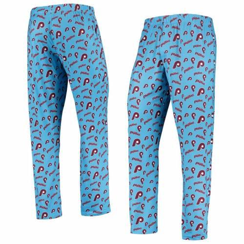 FOCO フィラデルフィア フィリーズ 青 ブルー インナー 下着 ナイトウエア メンズ ナイト ルーム パジャマ 【 Philadelphia Phillies Retro Repeat Pants - Light Blue 】 Light Blue