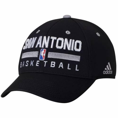 アディダス ADIDAS スパーズ プラクティス 黒 ブラック バッグ キャップ 帽子 メンズキャップ メンズ 【 San Antonio Spurs Practice Flex Hat - Black 】 Black