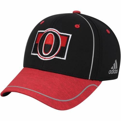 アディダス ADIDAS アルファ バッグ キャップ 帽子 メンズキャップ メンズ 【 Ottawa Senators Alpha Flex Hat - Black/red 】 Black/red