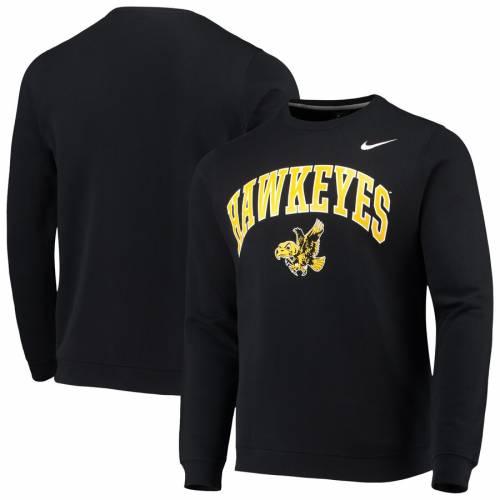 ナイキ NIKE クラブ 黒 ブラック メンズファッション トップス スウェット トレーナー メンズ 【 Iowa Hawkeyes Vault Arch Club Sweatshirt - Black 】 Black