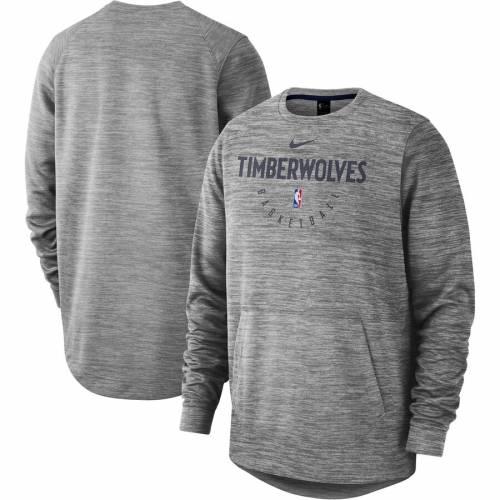 ナイキ NIKE ミネソタ ティンバーウルブズ パフォーマンス 灰色 グレー グレイ メンズファッション トップス スウェット トレーナー メンズ 【 Minnesota Timberwolves Spotlight Performance Pullover Sw