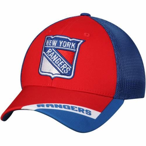 アディダス ADIDAS レンジャーズ バッグ キャップ 帽子 メンズキャップ メンズ 【 New York Rangers Sublimated Visor Meshback Flex Hat - Red/blue 】 Red/blue