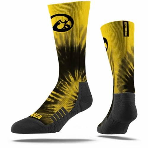 STRIDELINE ソックス 靴下 インナー 下着 ナイトウエア メンズ 下 レッグ 【 Iowa Hawkeyes Tye Dye Crew Socks 】 Color
