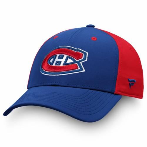 FANATICS BRANDED スピード バッグ キャップ 帽子 メンズキャップ メンズ 【 Montreal Canadiens Iconic 2-tone Speed Flex Hat - Blue/red 】 Blue/red