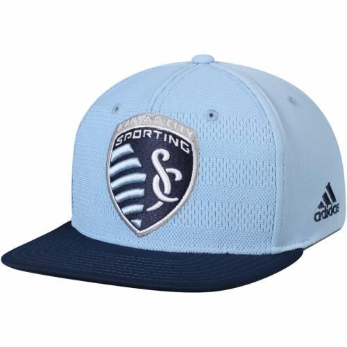 アディダス ADIDAS カンザス シティ オーセンティック チーム スナップバック バッグ 青 ブルー キャップ 帽子 メンズキャップ メンズ 【 Sporting Kansas City Authentic Team Snapback Adjustable Hat - Lig
