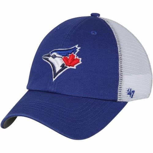 '47 トロント 青 ブルー バッグ キャップ 帽子 メンズキャップ メンズ 【 Toronto Blue Jays Blue Hill Closer Flex Hat - Royal/white 】 Royal/white