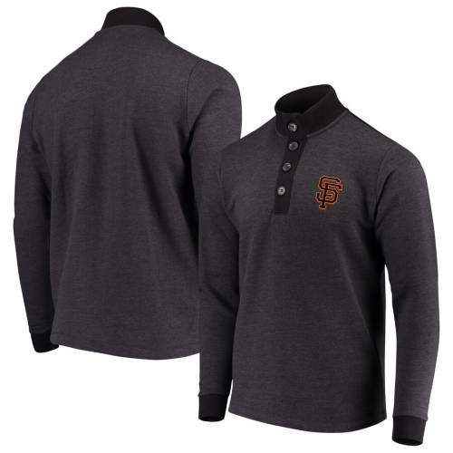 ANTIGUA ジャイアンツ 黒 ブラック メンズファッション トップス スウェット トレーナー メンズ 【 San Francisco Giants Pivotal Button Pullover Sweatshirt - Black 】 Black