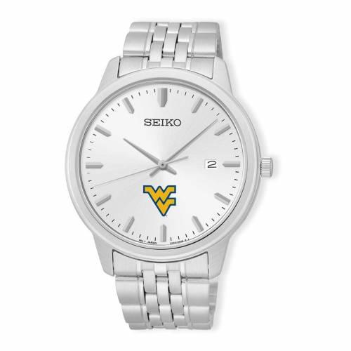 SEIKO バージニア ステンレス 銀色 スチール ウォッチ 時計 シルバー 【 WATCH SILVER SEIKO WEST VIRGINIA MOUNTAINEERS ANALOG QUARTZ STAINLESS STEEL 】 腕時計 メンズ腕時計