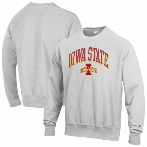 チャンピオン CHAMPION スケートボード ロゴ リベンジ 灰色 グレー グレイ メンズファッション トップス スウェット トレーナー メンズ 【 Iowa State Cyclones Arch Over Logo Reverse Weave Pullover Sweats