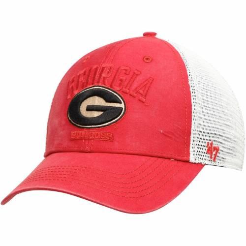 '47 トラッカー 赤 レッド バッグ キャップ 帽子 メンズキャップ メンズ 【 Georgia Bulldogs Brayman Trucker Adjustable Hat - Red 】 Red
