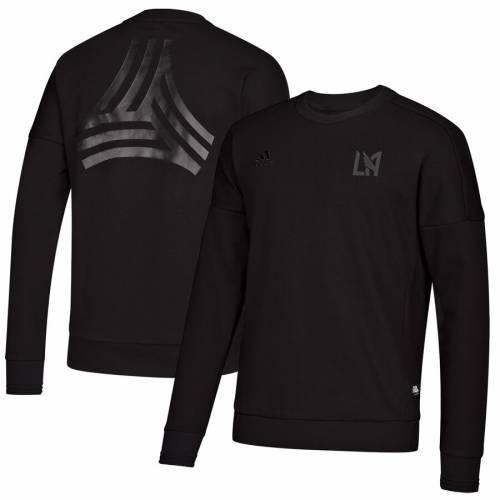 アディダス ADIDAS 黒 ブラック メンズファッション トップス スウェット トレーナー メンズ 【 Lafc Tango Crew Neck Pullover Sweatshirt - Black 】 Black