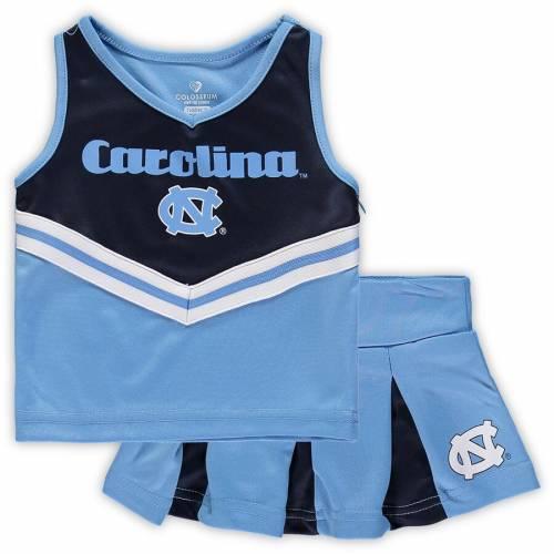 COLOSSEUM ノース カロライナ ベビー 赤ちゃん用 赤ちゃん 幼児 キッズ マタニティ ジュニア 【 North Carolina Tar Heels Girls Toddler Pom Pom Cheer Set - Carolina Blue/navy 】 Carolina Blue/navy
