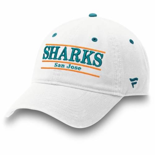 FANATICS BRANDED 白 ホワイト バッグ キャップ 帽子 メンズキャップ メンズ 【 San Jose Sharks Bar Adjustable Hat - White 】 White
