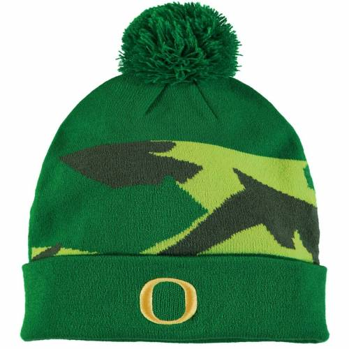 ナイキ NIKE オレゴン サイドライン ニット 緑 グリーン バッグ キャップ 帽子 メンズキャップ メンズ 【 Oregon Ducks Sideline Cuffed Pom Knit Hat - Green 】 Green