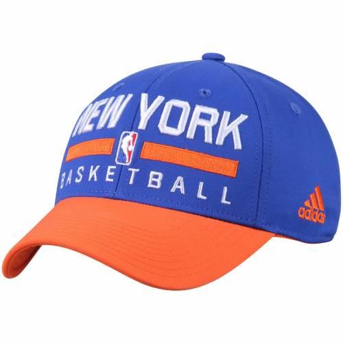 アディダス ADIDAS ニックス プラクティス スナップバック バッグ キャップ 帽子 メンズキャップ メンズ 【 New York Knicks 2-tone Practice Structured Snapback Hat - Blue/orange 】 Blue/orange