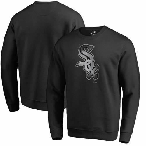 FANATICS BRANDED シカゴ 白 ホワイト コア フリース 黒 ブラック メンズファッション トップス スウェット トレーナー メンズ 【 Chicago White Sox Core Smoke Fleece Sweatshirt - Black 】 Black