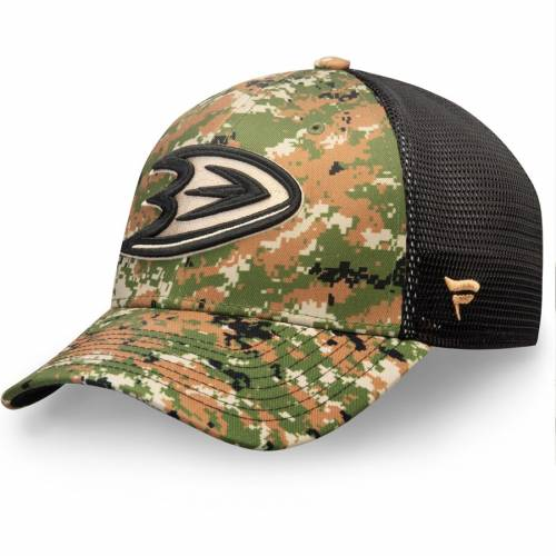 FANATICS BRANDED オーセンティック プロ スピード バッグ キャップ 帽子 メンズキャップ メンズ 【 Anaheim Ducks Authentic Pro Military Appreciation Speed Flex Hat - Camo 】 Camo