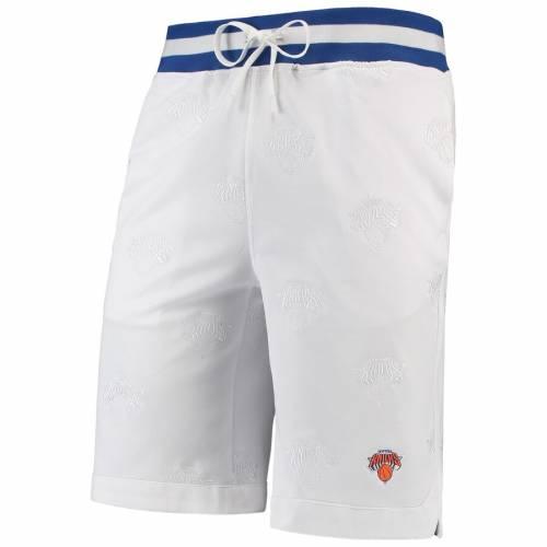FISLL ニックス ショーツ ハーフパンツ 白 ホワイト スポーツ アウトドア バスケットボール メンズ ショートパンツ 【 New York Knicks All Over Print Tonal Comfort Shorts - White 】 White