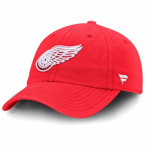 FANATICS BRANDED デトロイト 赤 レッド バッグ キャップ 帽子 メンズキャップ メンズ 【 Detroit Red Wings Fundamental Adjustable Hat - Red 】 Red