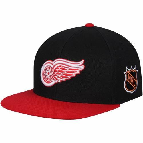 AMERICAN NEEDLE デトロイト 赤 レッド スナップバック バッグ キャップ 帽子 メンズキャップ メンズ 【 Detroit Red Wings Blockhead Snapback Adjustable Hat - Black/red 】 Black/red