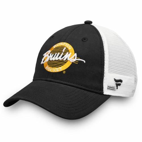 FANATICS BRANDED ボストン トラッカー 黒 ブラック バッグ キャップ 帽子 メンズキャップ メンズ 【 Boston Bruins Circle Trucker Adjustable Hat - Black 】 Black