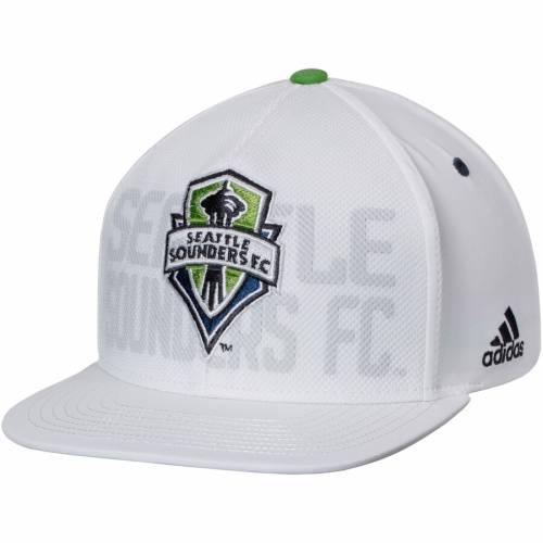 アディダス ADIDAS シアトル オーセンティック チーム スナップバック バッグ 白 ホワイト キャップ 帽子 メンズキャップ メンズ 【 Seattle Sounders Fc Authentic Team Snapback Adjustable Hat - White 】 W