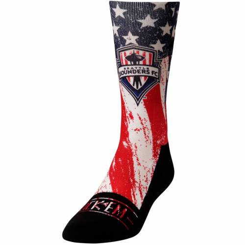 ROCK EM SOCKS 靴下 シアトル サウンダーズ クラブ カントリー 青 ブルー 赤 レッド 【 BLUE RED ROCK EM SOCKS SEATTLE SOUNDERS FC FOR CLUB AND COUNTRY SHIN 】 インナー 下着 ナイトウエア メンズ 下 レッグ