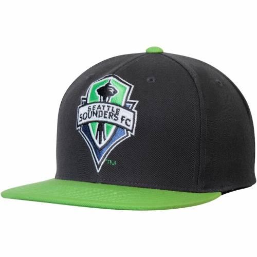 ミッチェル&ネス MITCHELL & NESS シアトル ロゴ スナップバック バッグ 緑 グリーン キャップ 帽子 メンズキャップ メンズ 【 Seattle Sounders Fc Mitchell And Ness Xl Logo Two-tone Snapback Adjustable Hat