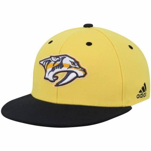 アディダス ADIDAS ロゴ バッグ キャップ 帽子 メンズキャップ メンズ 【 Nashville Predators Two-tone Logo Flex Hat - Gold/black 】 Gold/black