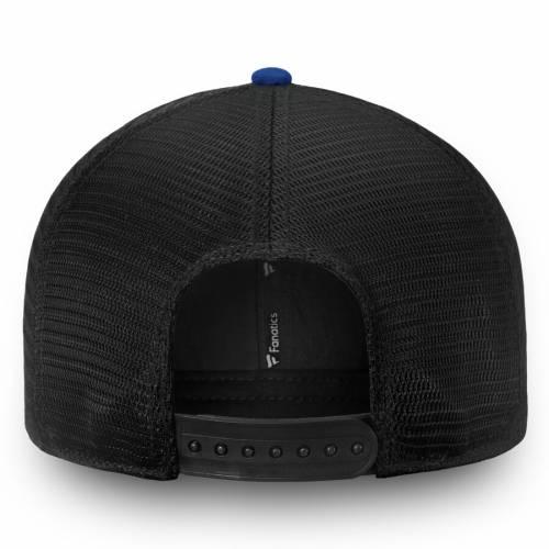 FANATICS BRANDED トロント チーム トラッカー スナップバック バッグ 黒 ブラック キャップ 帽子 メンズキャップ メンズ 【 Toronto Maple Leafs Iconic Team Pop Trucker Adjustable Snapback Hat - Black 】 Black