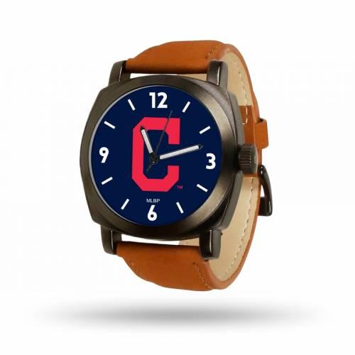SPARO クリーブランド インディアンズ 茶 ブラウン ストラップ ウォッチ 時計 【 BROWN WATCH SPARO CLEVELAND INDIANS STRAP COLOR 】 腕時計 メンズ腕時計