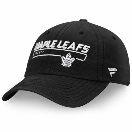 FANATICS BRANDED トロント チーム オーセンティック プロ 黒 ブラック バッグ キャップ 帽子 メンズキャップ メンズ 【 Toronto Maple Leafs Team Authentic Pro Rinkside Fundamental Adjustable Hat - Black 】 Black