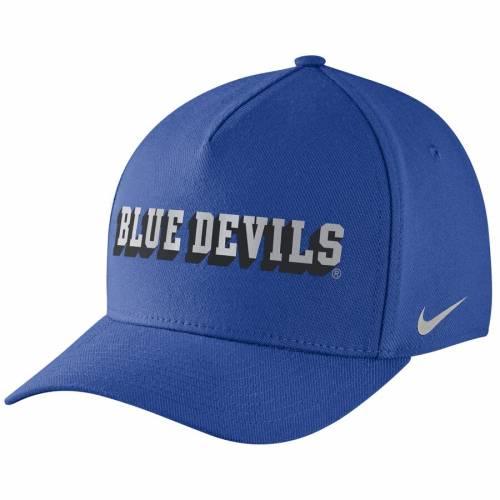 ナイキ NIKE デューク 青 ブルー スウッシュ スウォッシュ バッグ キャップ 帽子 メンズキャップ メンズ 【 Duke Blue Devils Local Dna Verbiage Swoosh Flex Hat - Royal 】 Royal