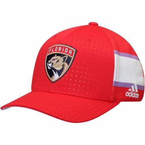 アディダス ADIDAS フロリダ パンサーズ 赤 レッド バッグ キャップ 帽子 メンズキャップ メンズ 【 Florida Panthers Hockey Fights Cancer Flex Hat - Red 】 Red