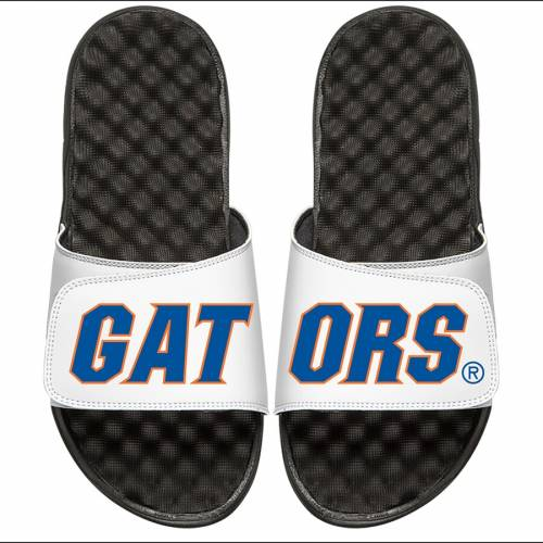 ISLIDE フロリダ 子供用 サンダル キッズ ベビー マタニティ ジュニア 【 Florida Gators Youth Wordmark Split Slide Sandals 】 White