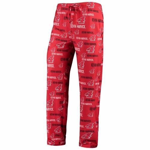 CONCEPTS SPORT ケビン メンズ 赤 レッド インナー 下着 ナイトウエア ナイト ルーム パジャマ 【 Kevin Harvick Mens Midfield Sleep Pants - Red 】 Red