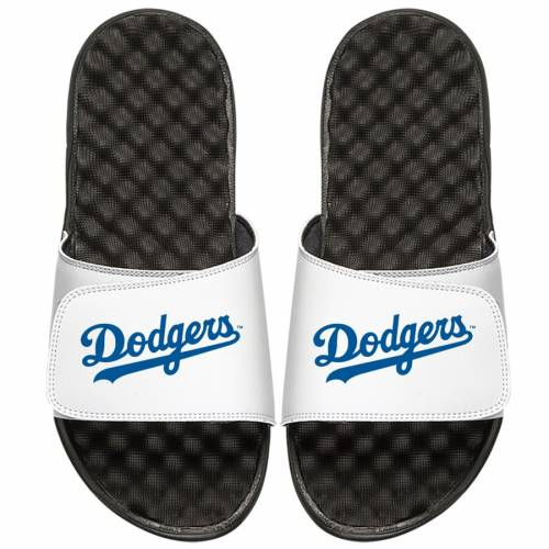 ISLIDE ドジャース 子供用 サンダル 白 ホワイト キッズ ベビー マタニティ ジュニア 【 Los Angeles Dodgers Youth Wordmark Slide Sandals - White 】 White