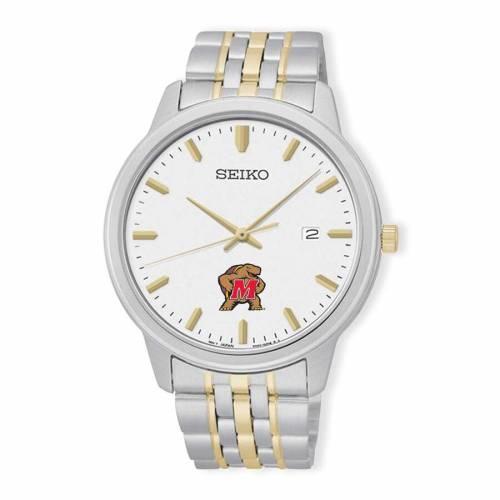 SEIKO メリーランド ブレスレット ウォッチ 時計 銀色 シルバー 金色 ゴールド 【 WATCH SILVER SEIKO MARYLAND TERRAPINS PRIME BRACELET GOLD 】 腕時計 メンズ腕時計