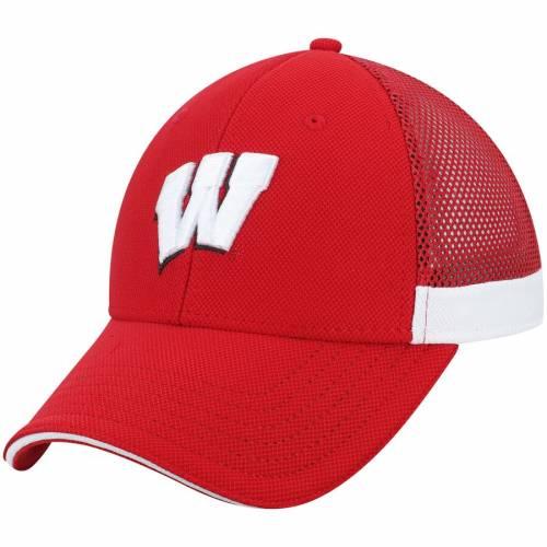 アンダーアーマー UNDER ARMOUR ウィスコンシン チーム ロゴ サイドライン 赤 レッド バッグ キャップ 帽子 メンズキャップ メンズ 【 Wisconsin Badgers Team Logo Sideline Blitzing Accent Flex Hat - Red 】