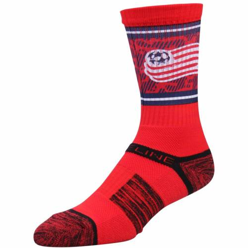 STRIDELINE ソックス 靴下 赤 レッド インナー 下着 ナイトウエア メンズ 下 レッグ 【 New England Revolution Exclusive Crew Socks - Red 】 Red