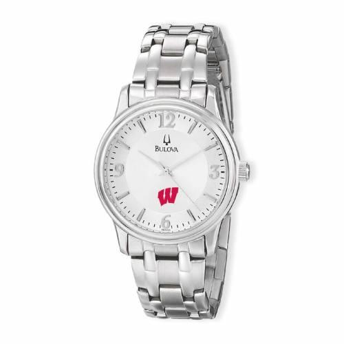 ブローバ BULOVA ウィスコンシン ステンレス 銀色 スチール ウォッチ 時計 シルバー 【 WATCH SILVER BULOVA WISCONSIN BADGERS STAINLESS STEEL QUARTZ 】 腕時計 メンズ腕時計