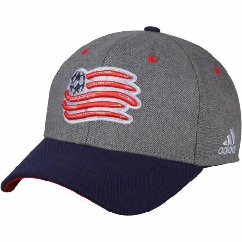 アディダス ADIDAS バッグ キャップ 帽子 メンズキャップ メンズ 【 New England Revolution Two-tone Structured Adjustable Hat - Gray/navy 】 Gray/navy