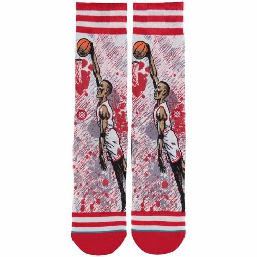 スタンス STANCE シカゴ ブルズ ソックス 靴下 インナー 下着 ナイトウエア メンズ 下 レッグ 【 Scottie Pippen Chicago Bulls Todd Francis Crew Socks - Red/white 】 Red/white
